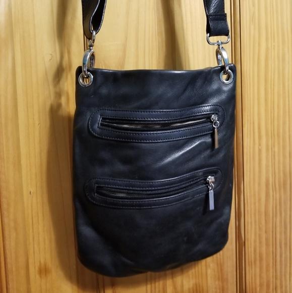 5d944b2263d1 Black leather crossbody purse tj maxx Margot brand.  M 5c074d8cbb761541bdd999eb
